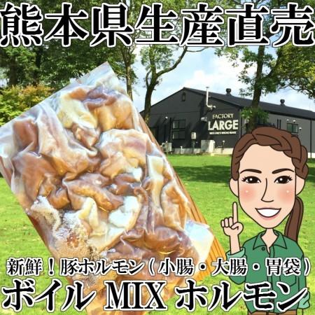 【冷凍】 ボイルホルモン300g×10p ミックス(大腸・小腸・胃袋(ガツ))  豚ホルモン