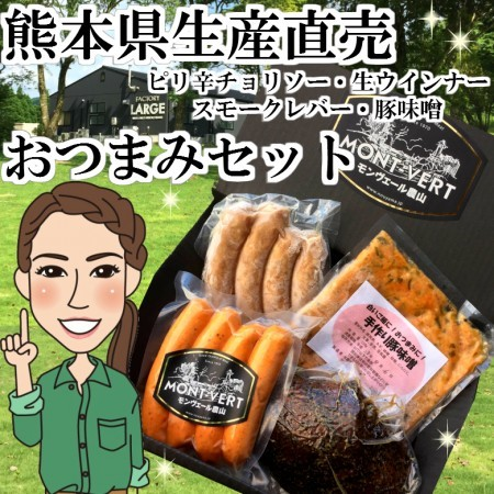 贈答用 ネット限定販売 冷凍 熊本県生産直売 手作りソーセージおつまみセット【st-02】