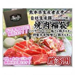 贈答用 焼肉用ホルモンセット ( 豚バラ・豚ロース ホルモン2種 各300g[約6人前]【M-4】