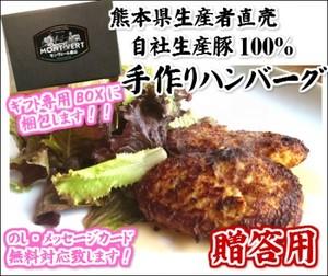 お歳暮 御年賀に 手作りポークハンバーグ ( 120g × 8個 )【M-8】